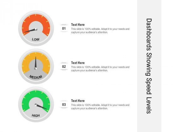 Dashboards Showing Speed Levels Ppt PowerPoint Presentation Styles Graphics Template PDF