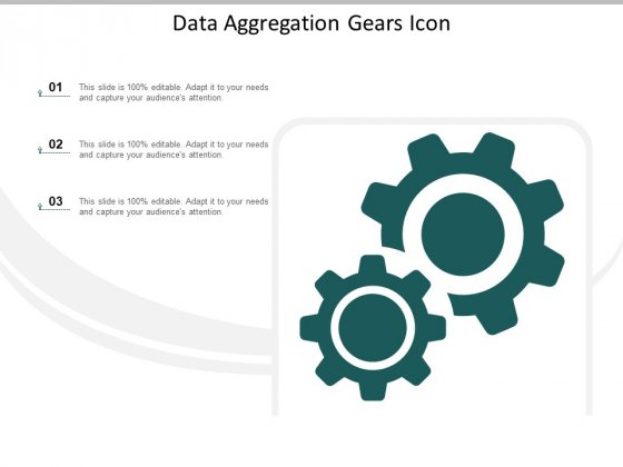 Data Aggregation Gears Icon Ppt Powerpoint Presentation Gallery Graphics Tutorials