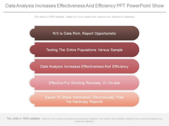Data Analysis Increases Effectiveness And Efficiency Ppt