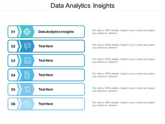 Data Analytics Insights Ppt PowerPoint Presentation Infographics Show Cpb