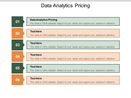 Data Analytics Pricing Ppt PowerPoint Presentation Show Designs Cpb Pdf