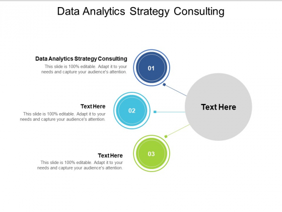 Data Analytics Strategy Consulting Ppt PowerPoint Presentation Outline Professional Cpb