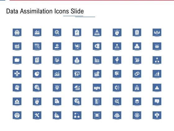 Data Assimilation Icons Slide Ppt Show Graphics Download PDF