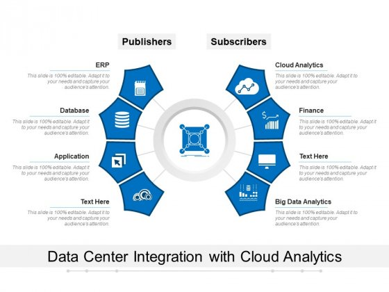 Data Center Integration With Cloud Analytics Ppt PowerPoint Presentation Slides Deck PDF