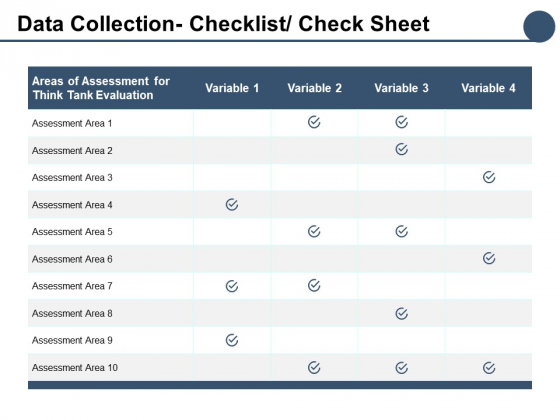 Data Collection Checklist Check Sheet Ppt PowerPoint Presentation Ideas Aids