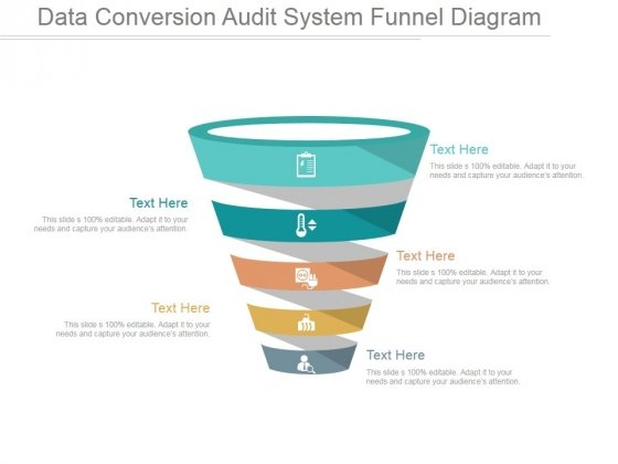 Data Conversion Audit System Funnel Diagram Ppt PowerPoint Presentation Show