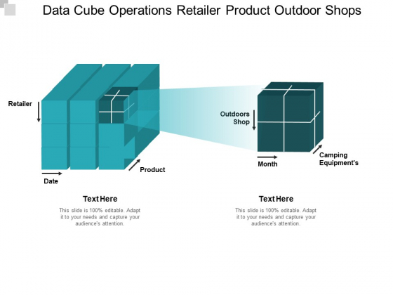 Data Cube Operations Retailer Product Outdoor Shops Ppt PowerPoint Presentation Ideas Skills