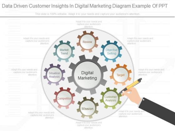 Data Driven Customer Insights In Digital Marketing Diagram Example Of Ppt