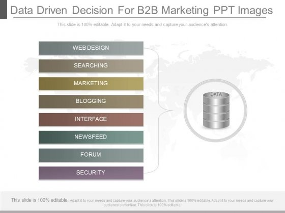 Data Driven Decision For B2b Marketing Ppt Images