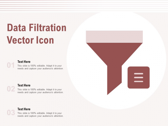 Data Filtration Vector Icon Ppt PowerPoint Presentation Show Sample