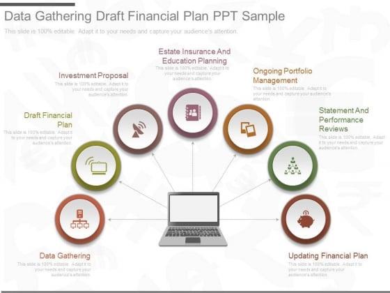 Data Gathering Draft Financial Plan Ppt Sample