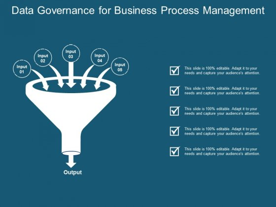 Data Governance For Business Process Management Ppt PowerPoint Presentation Visual Aids Files