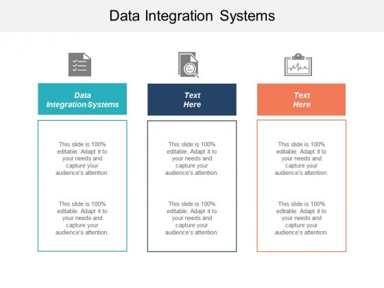 Data Integration Systems Ppt PowerPoint Presentation Outline Gridlines Cpb