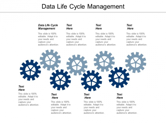 Data Life Cycle Management Ppt PowerPoint Presentation Infographic Template Brochure Cpb