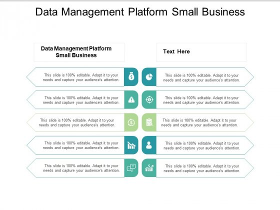 Data Management Platform Small Business Ppt PowerPoint Presentation Styles Designs Download Cpb