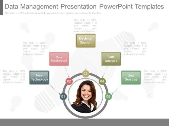 Data Management Presentation Powerpoint Templates