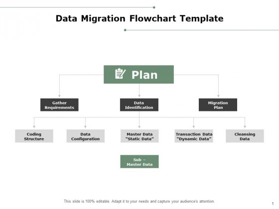 Data Migration Flowchart Template Ppt PowerPoint Presentation Infographics Master Slide