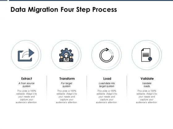 Data Migration Four Step Process Ppt PowerPoint Presentation Show Designs Download