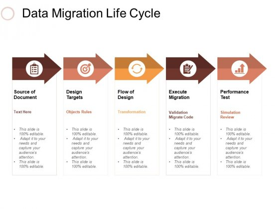 Data Migration Life Cycle Ppt PowerPoint Presentation Professional Elements