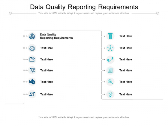Data Quality Reporting Requirements Ppt PowerPoint Presentation Portfolio Introduction Cpb Pdf