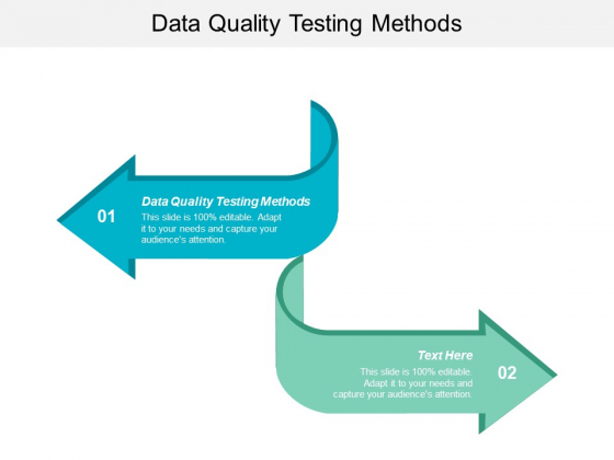 Data Quality Testing Methods Ppt PowerPoint Presentation Pictures Mockup Cpb