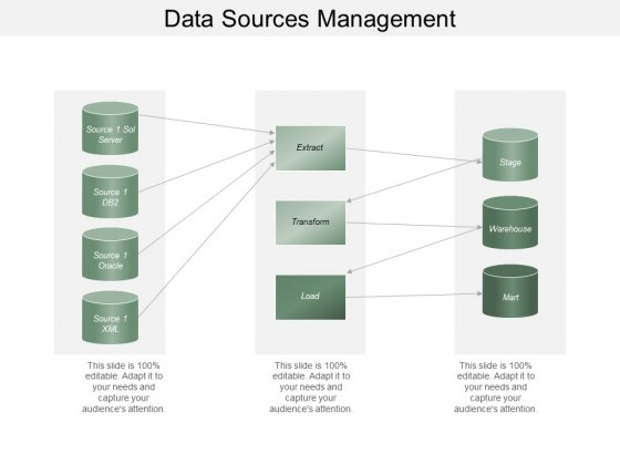 Data Sources Management Ppt PowerPoint Presentation Professional Icons
