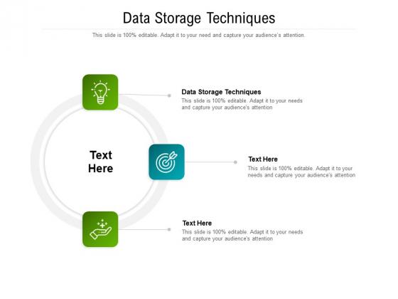 Data Storage Techniques Ppt PowerPoint Presentation Layouts Slides Cpb