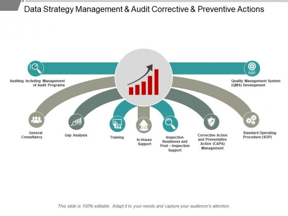 Data Strategy Management And Audit Corrective And Preventive Actions Ppt PowerPoint Presentation Pictures Designs Download