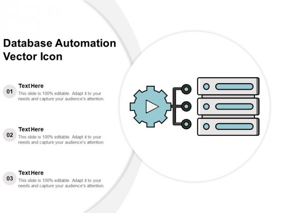 Database Automation Vector Icon Ppt PowerPoint Presentation Slides Samples PDF