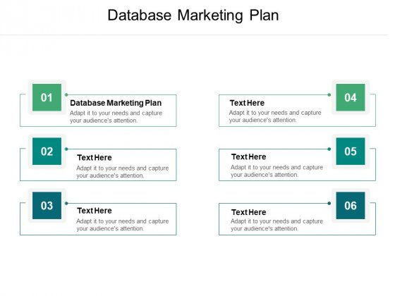 Database Marketing Plan Ppt PowerPoint Presentation Gallery Outline Cpb Pdf
