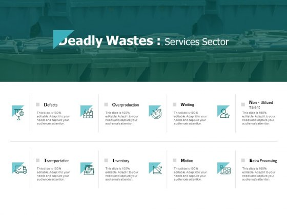 Deadly Wastes Services Sector Inventory Ppt PowerPoint Presentation Model Files