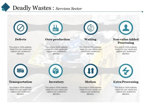 Deadly Wastes Services Sector Ppt PowerPoint Presentation Pictures Master Slide