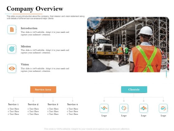 Deal Assessment Company Overview Ppt Slides Objects PDF