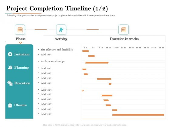 Deal Assessment Project Completion Timeline Planning Ppt Gallery Example Introduction PDF