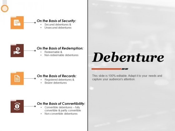 Debenture Ppt PowerPoint Presentation Background Images