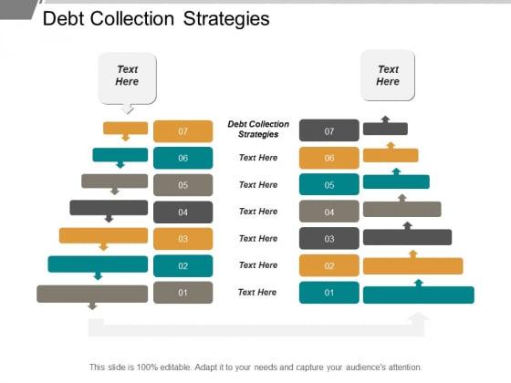 Debt Collection Strategies Ppt PowerPoint Presentation Visual Aids Slides