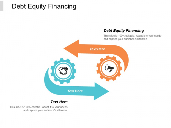 Debt Equity Financing Ppt PowerPoint Presentation Pictures Brochure Cpb