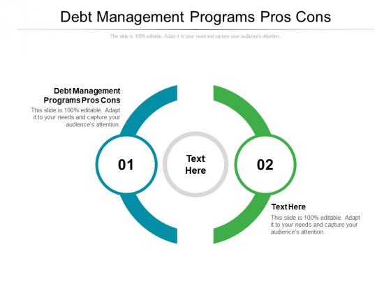 Debt Management Programs Pros Cons Ppt PowerPoint Presentation Show Slides Cpb Pdf