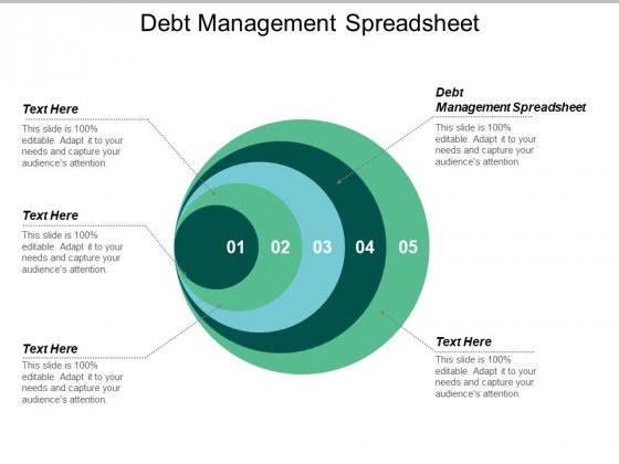 Debt Management Spreadsheet Ppt PowerPoint Presentation Pictures Portfolio Cpb