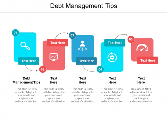 Debt Management Tips Ppt PowerPoint Presentation File Outfit Cpb Pdf