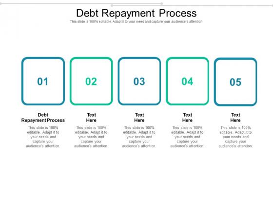 Debt Repayment Process Ppt PowerPoint Presentation Professional Slides Cpb Pdf
