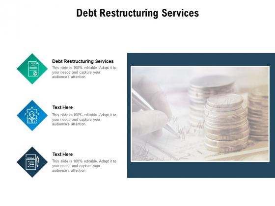 Debt Restructuring Services Ppt PowerPoint Presentation Portfolio Example Cpb Pdf