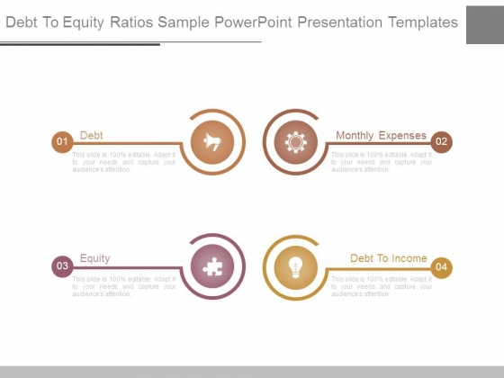 Debt To Equity Ratios Sample Powerpoint Presentation Templates