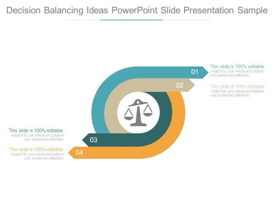 Decision Balancing Ideas Powerpoint Slide Presentation Sample