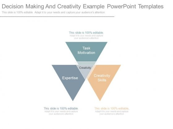 Decision Making And Creativity Example Powerpoint Templates