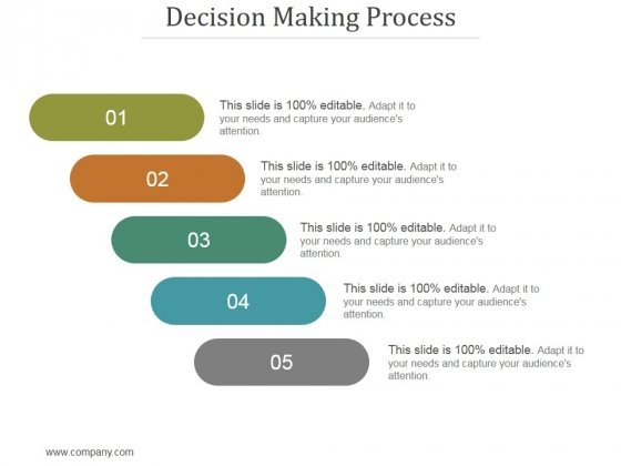 Decision Making Process Ppt PowerPoint Presentation Example File