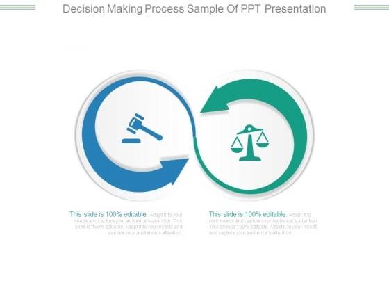 Decision Making Process Sample Of Ppt Presentation