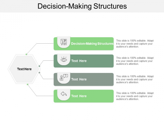 Decision Making Structures Ppt PowerPoint Presentation Background Designs Cpb