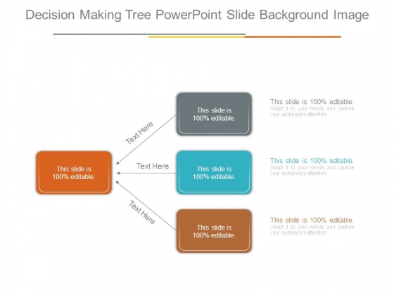 Decision Making Tree Powerpoint Slide Background Image