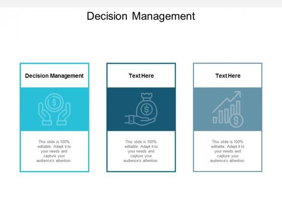 Decision Management Ppt PowerPoint Presentation Pictures Clipart Cpb
